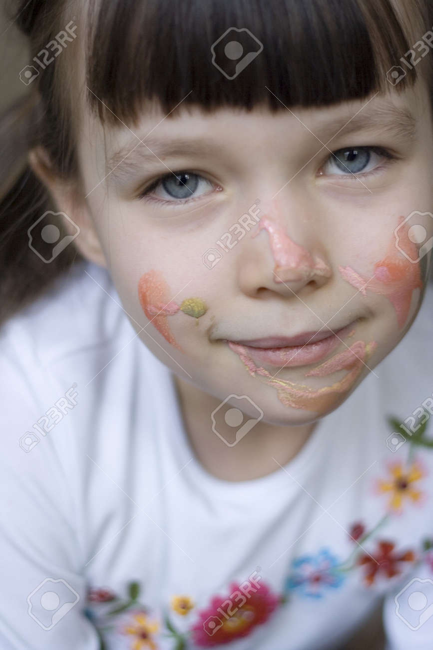 painted girl Stock Photo - 320415