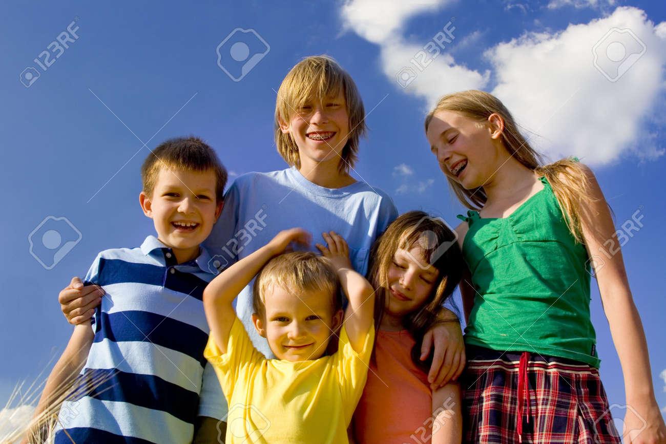 Children on sky Stock Photo - 720858