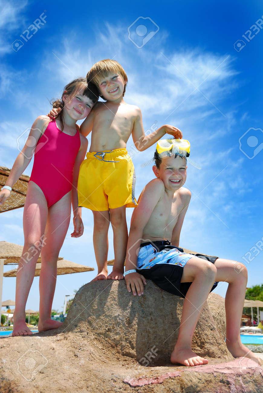 happy children on vacation Stock Photo - 1201657