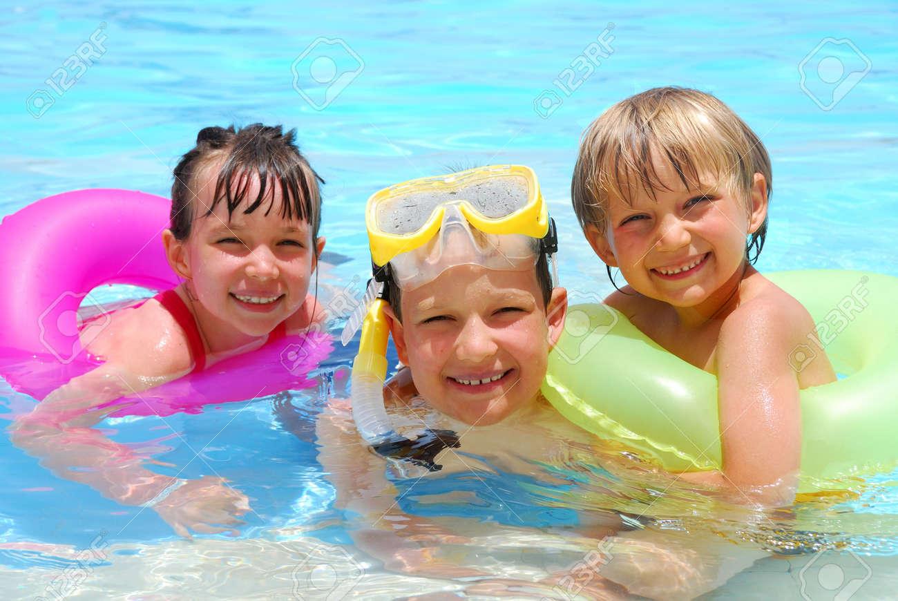children in pool Stock Photo - 1201691