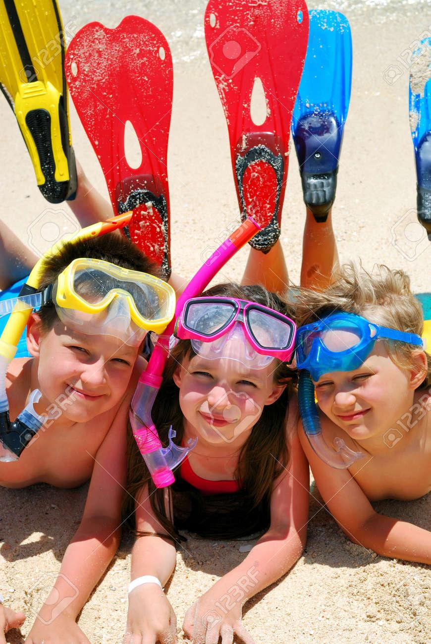 Snorkel Kids Stock Photo - 1201742