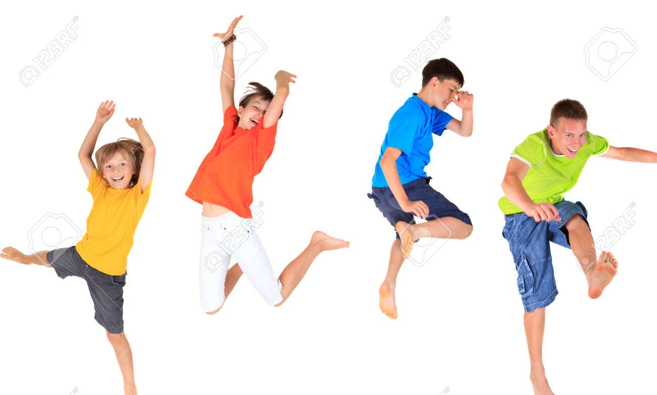 Happy children jumping - 17346979