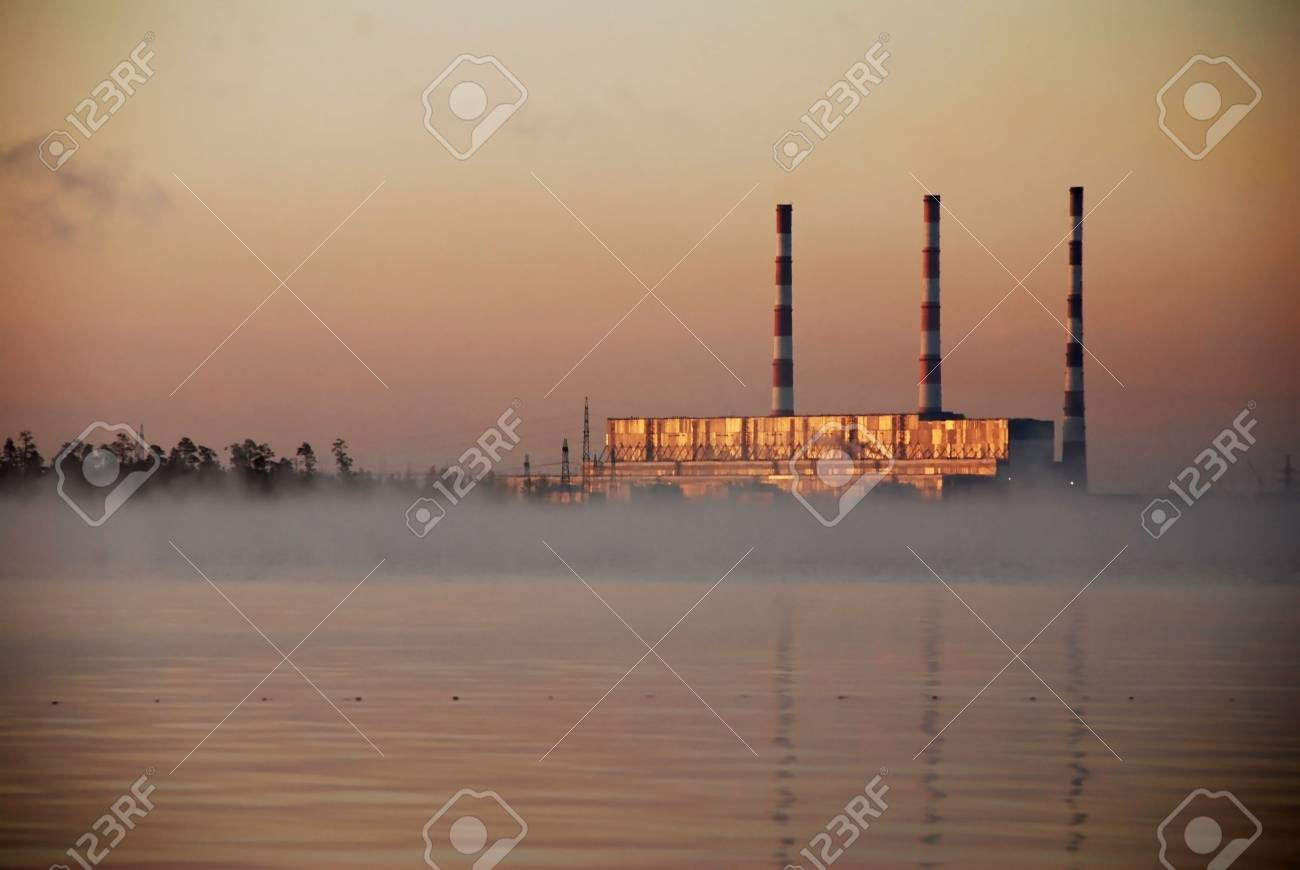Work power-station on passing gas Stock Photo - 4937569