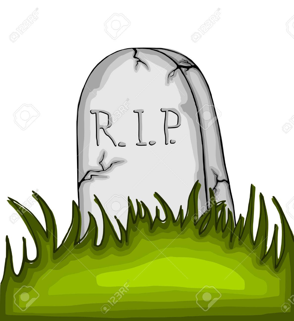 cartoon tombstone on the grass on white background stock photo rh 123rf com cartoon tombstone png cartoon tombstone template