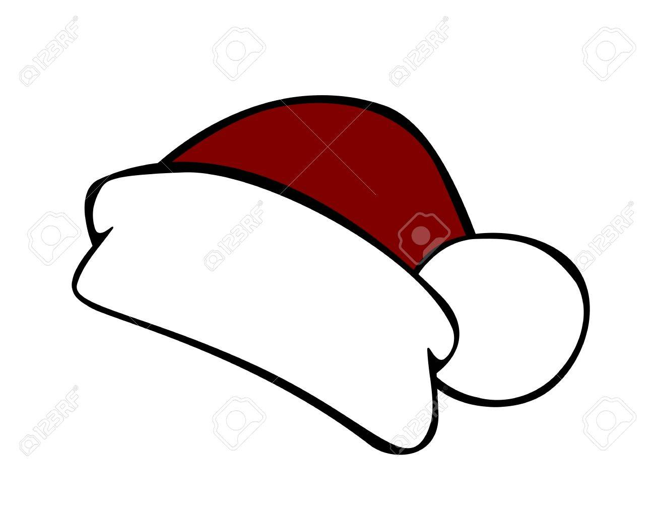 Red santa hat isolated on white background - 50087198