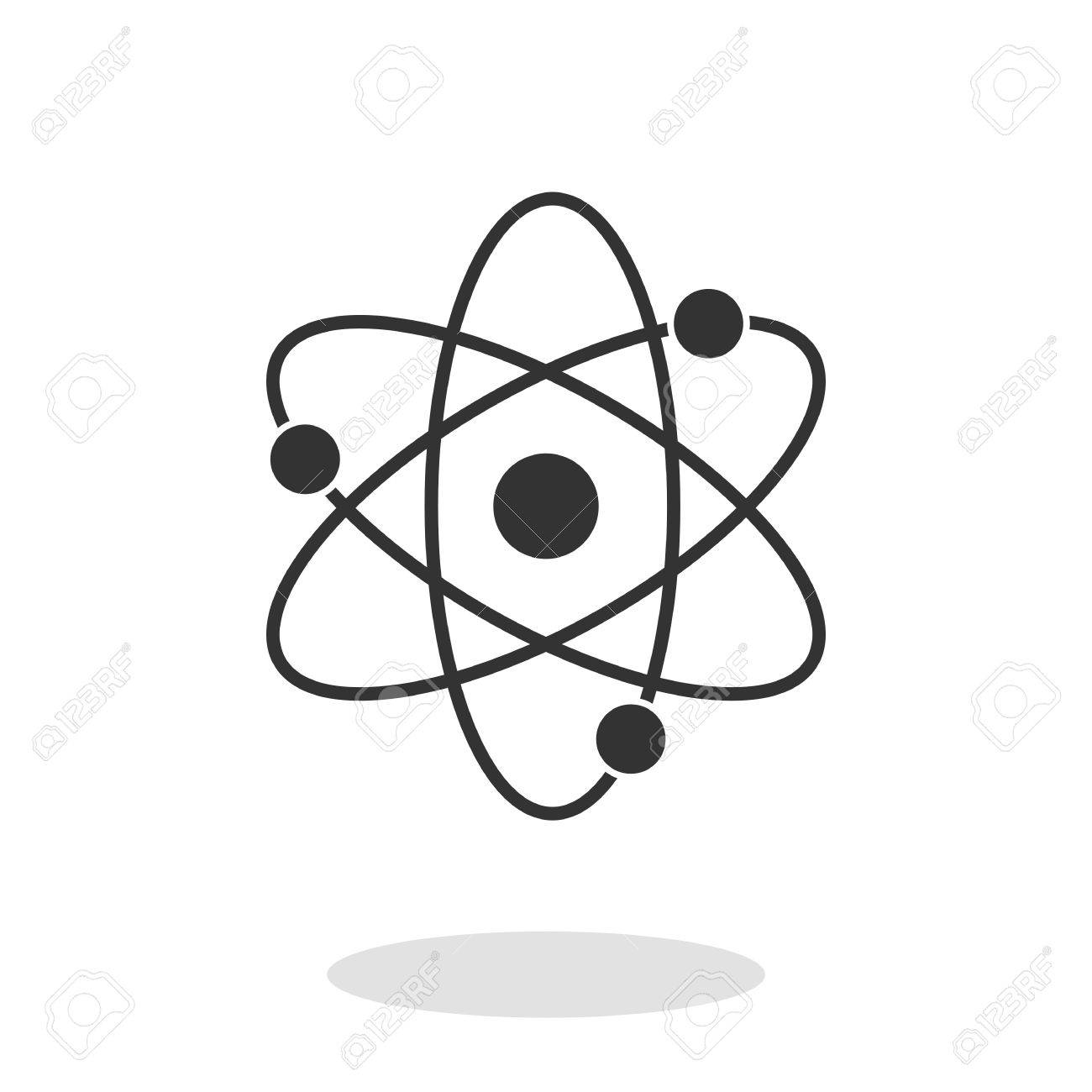 Atom icon with electrons and protons in trendy flat style isolated atom icon with electrons and protons in trendy flat style isolated on white background symbol buycottarizona Images