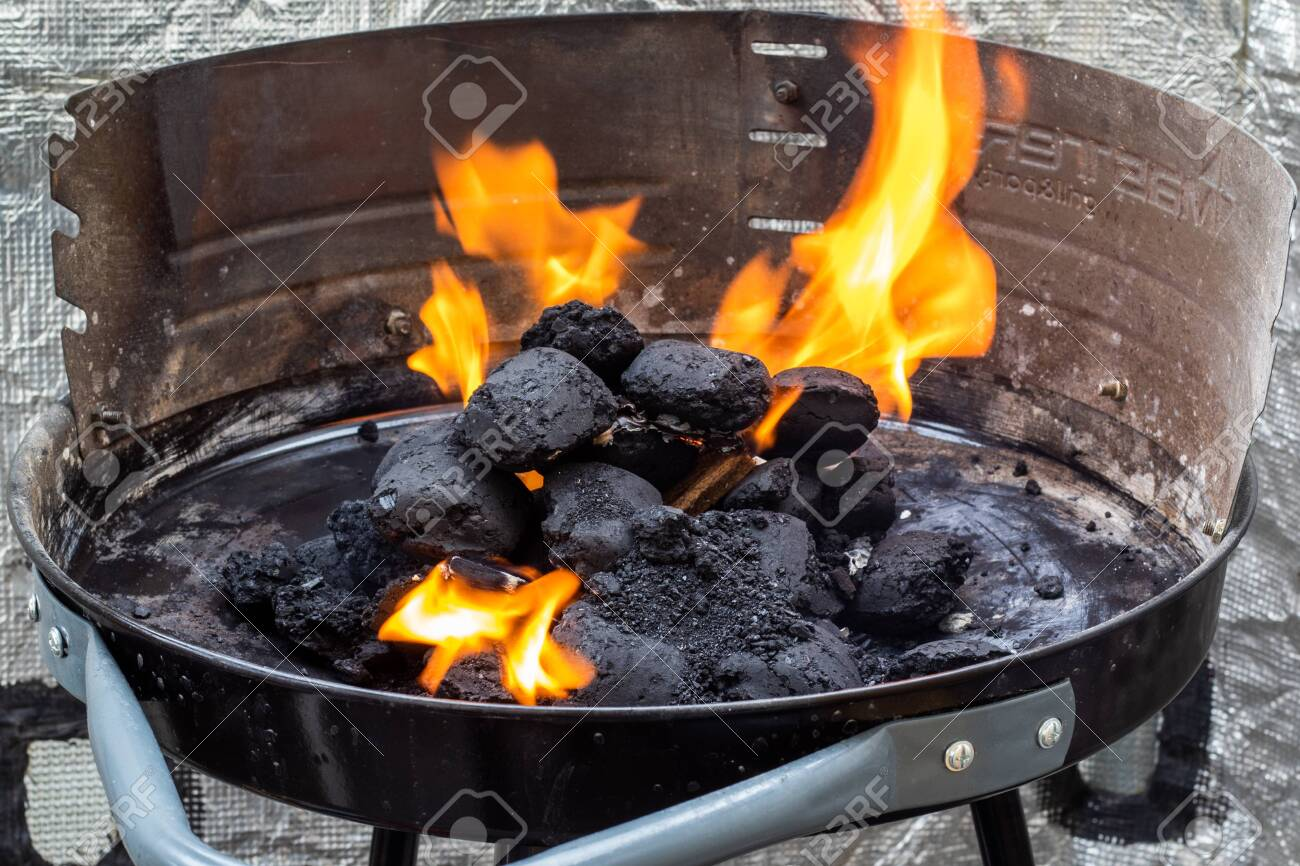 Lighting A Charcoal Grill Flames Stock Photo Picture And Royalty Free Image Image 146657158
