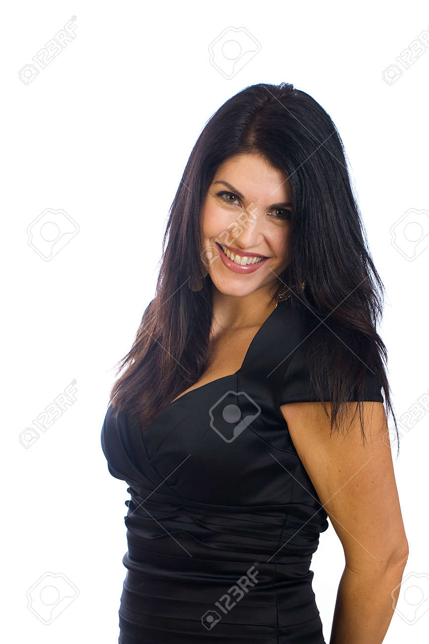 Beautiful middle aged woman with a radiant smile Stock Photo - 11814881