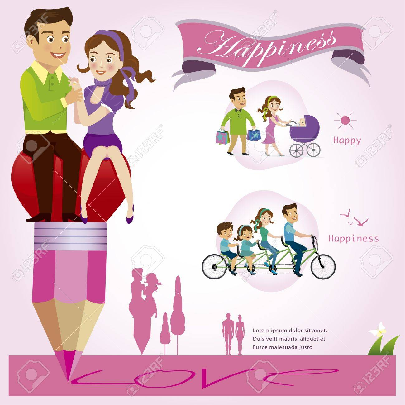 Couples illustration Stock Vector - 21811444