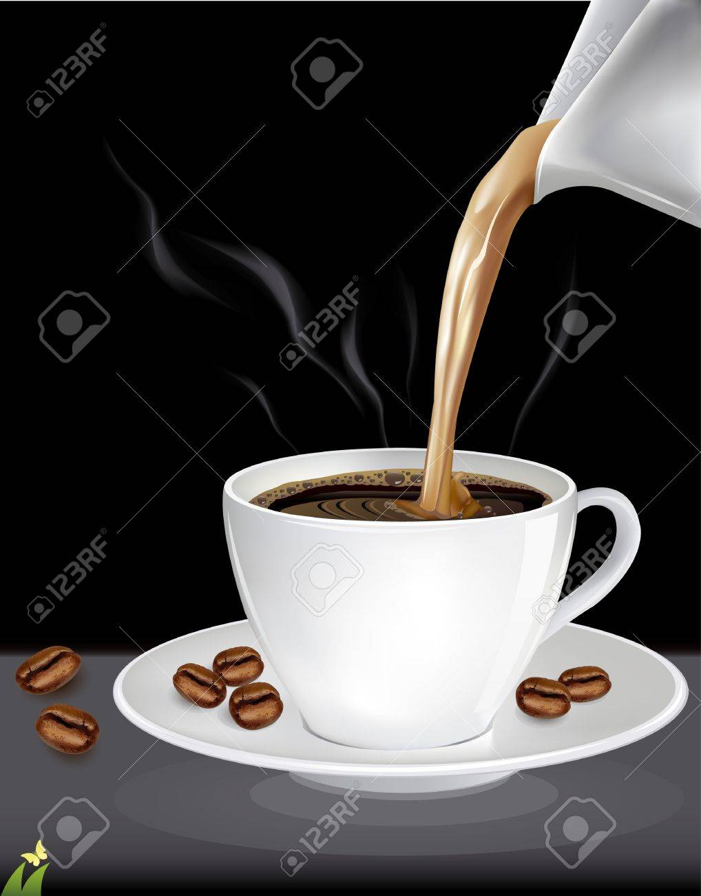 Cup of coffee, vector illustration Stock Vector - 21873990