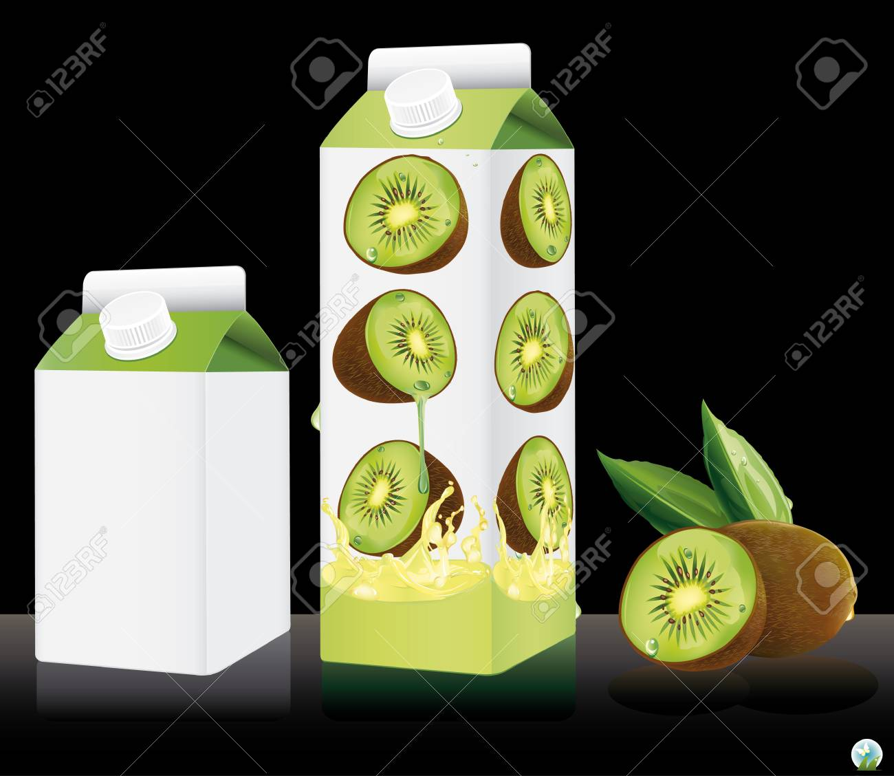 Blank milk or juice pack illustration Stock Vector - 21886752
