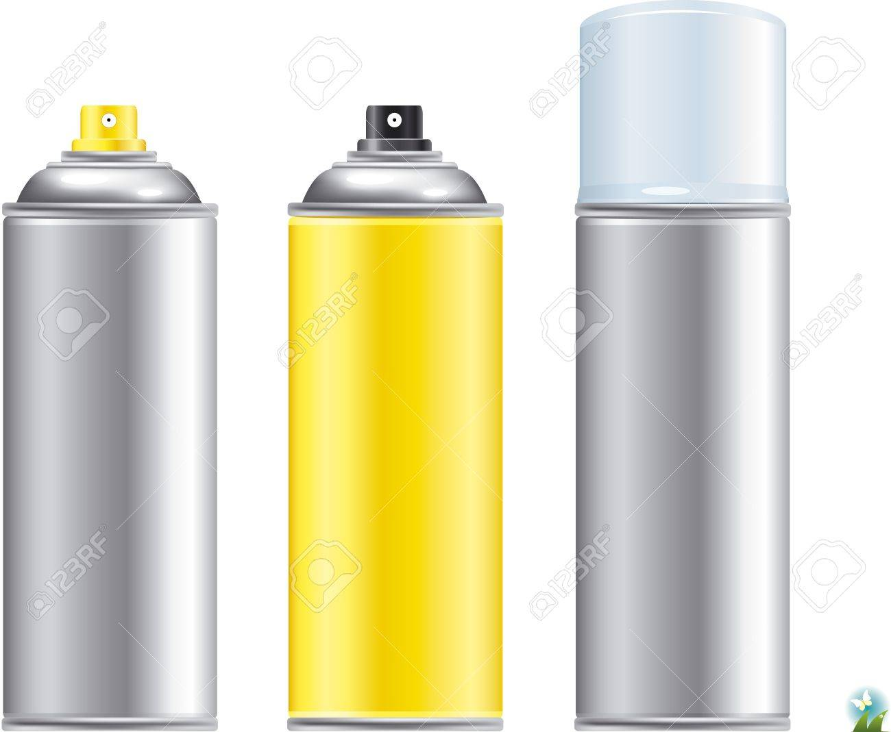 Blank aluminum spray can isolated on white background, Aerosol Spray Can , Metal Bottle Stock Vector - 21886791