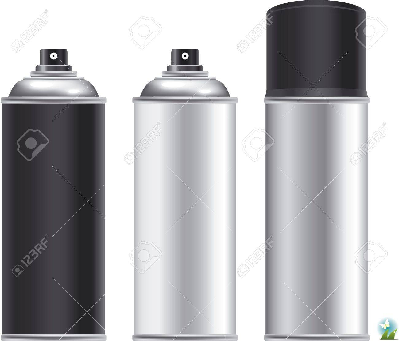 Blank aluminum spray can isolated on white background, Aerosol Spray Can , Metal Bottle Stock Vector - 21886794