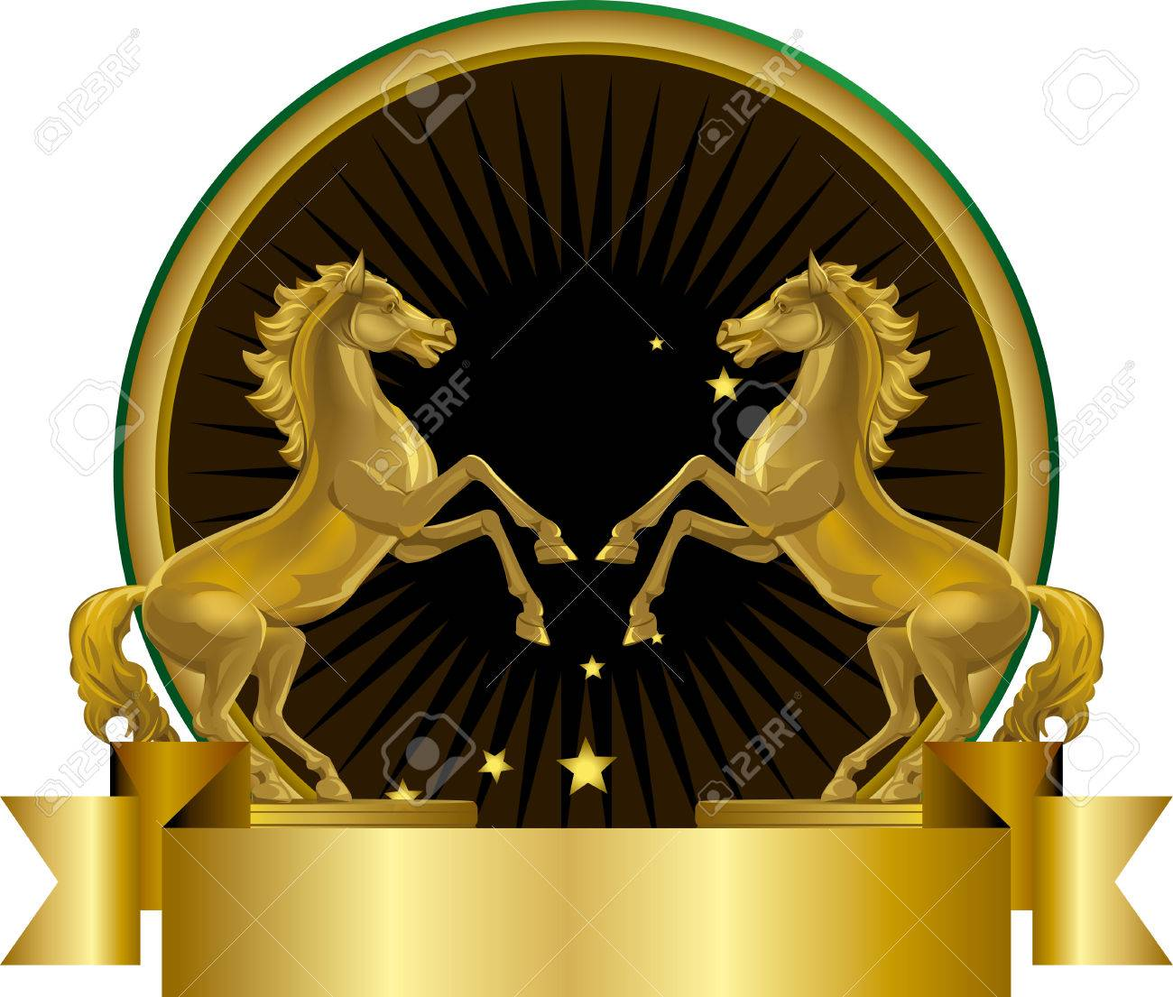 Golden Horse Illustration Royalty Free Cliparts Vectors And Stock Illustration Image 25127522