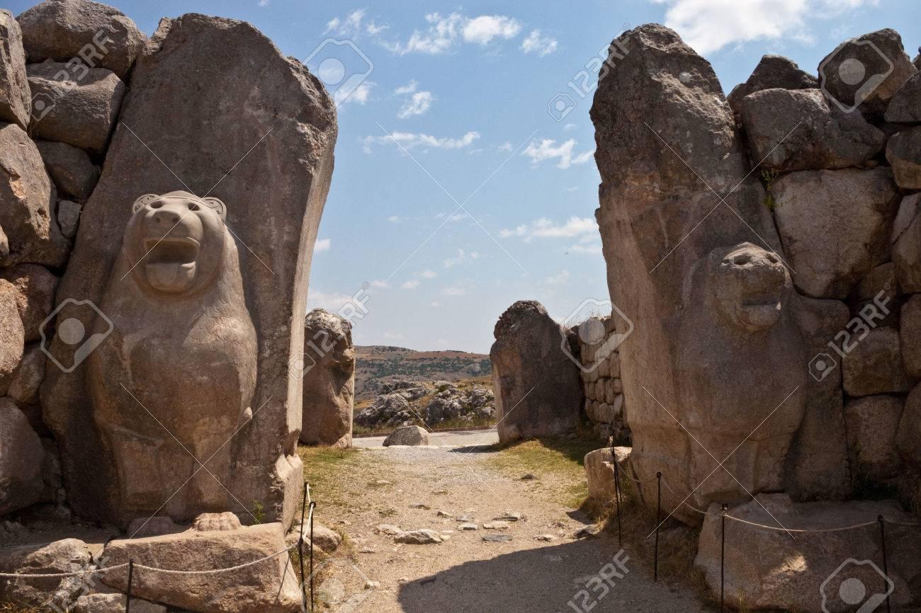 Ruins of old Hittite capital Hattusa, Turkey - 33613852