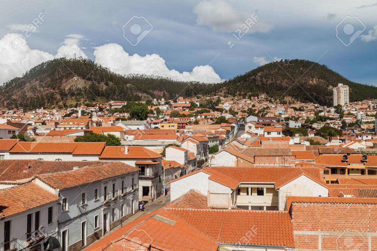 Aerial View Of Sucre Capital Of Bolivia Stock Photo Picture And Royalty Free Image Image 58904469
