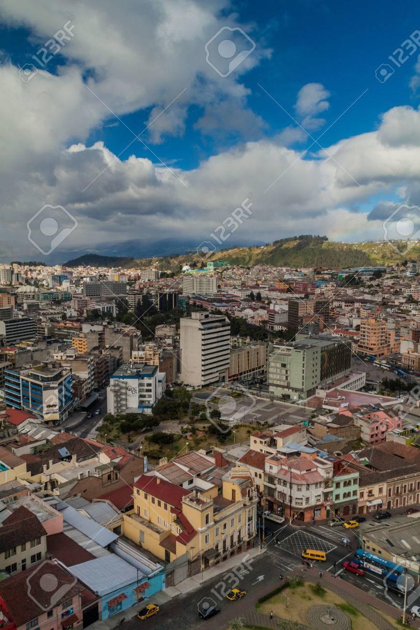 Aerial View Of Quito Capital Of Ecuador Stock Photo Picture And - Capital of ecuador