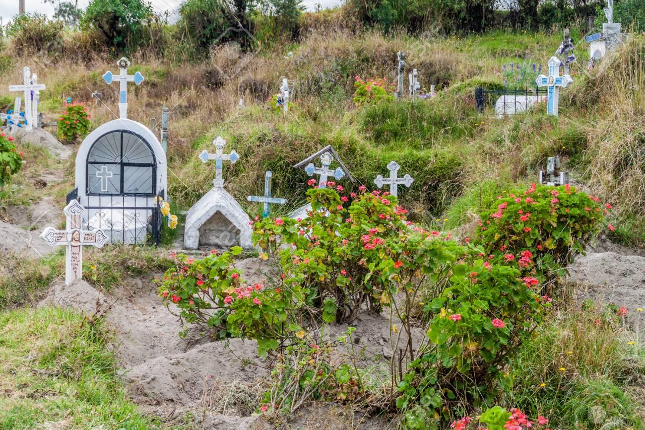 Circuito Quilotoa : Rustic cemetery in chugchilan village ecuador. this village.. stock
