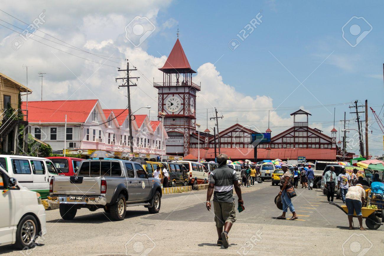 GEORGETOWN, GUYANA - AUGUST 10, 2015: Starbroek market in Georgetown,