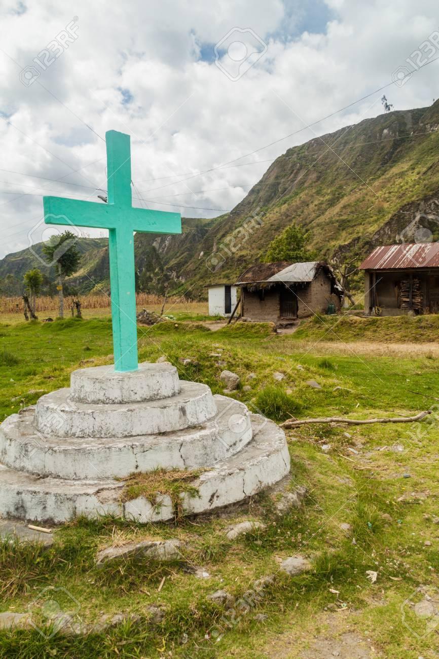 Circuito Quilotoa : Cruce en la aldea de itualo en el cañón del río toachi cerca del