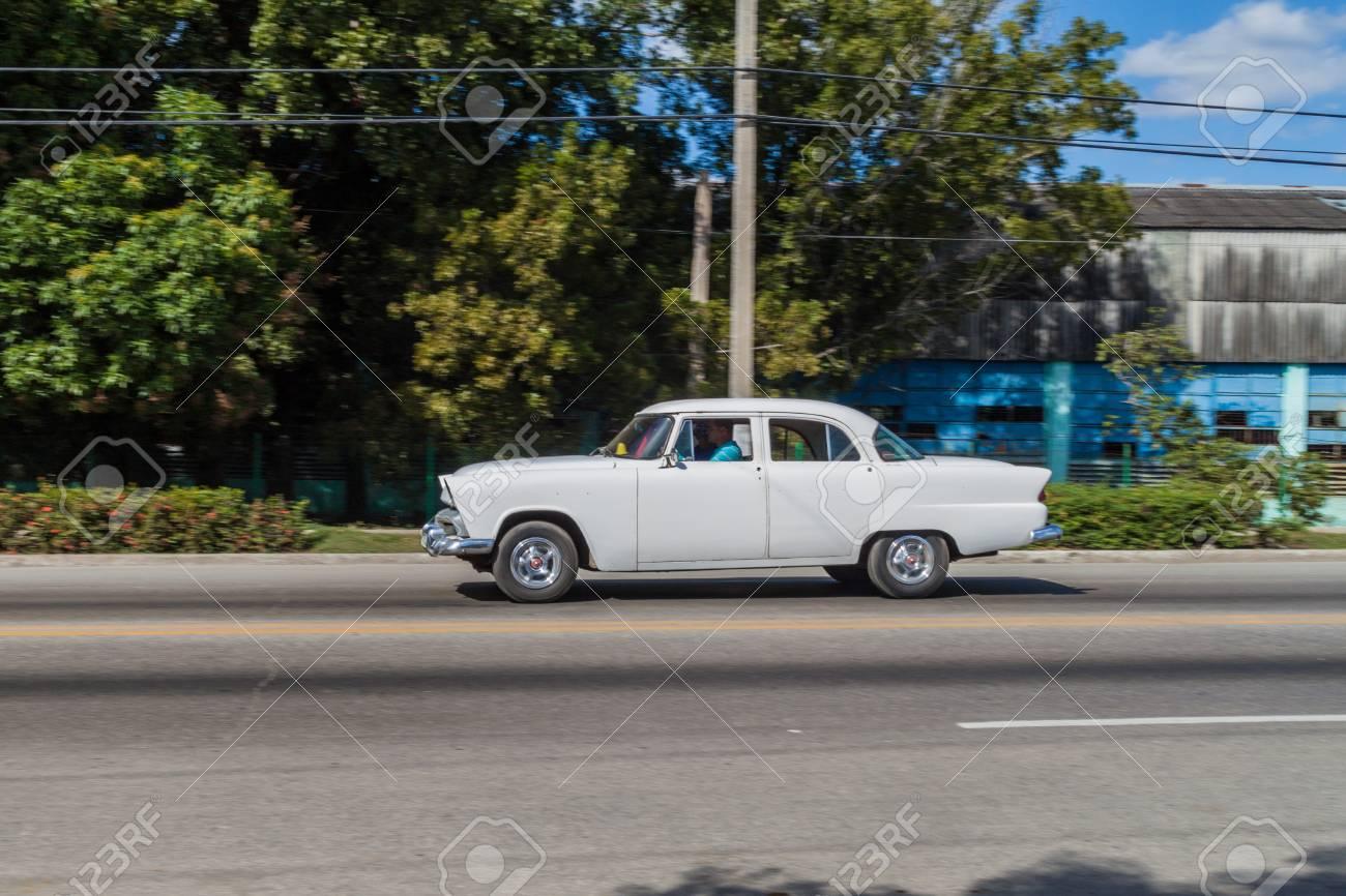 CAMAGUEY, CUBA - JAN 25, 2016: Old Car Rides In Camaguey Stock Photo ...