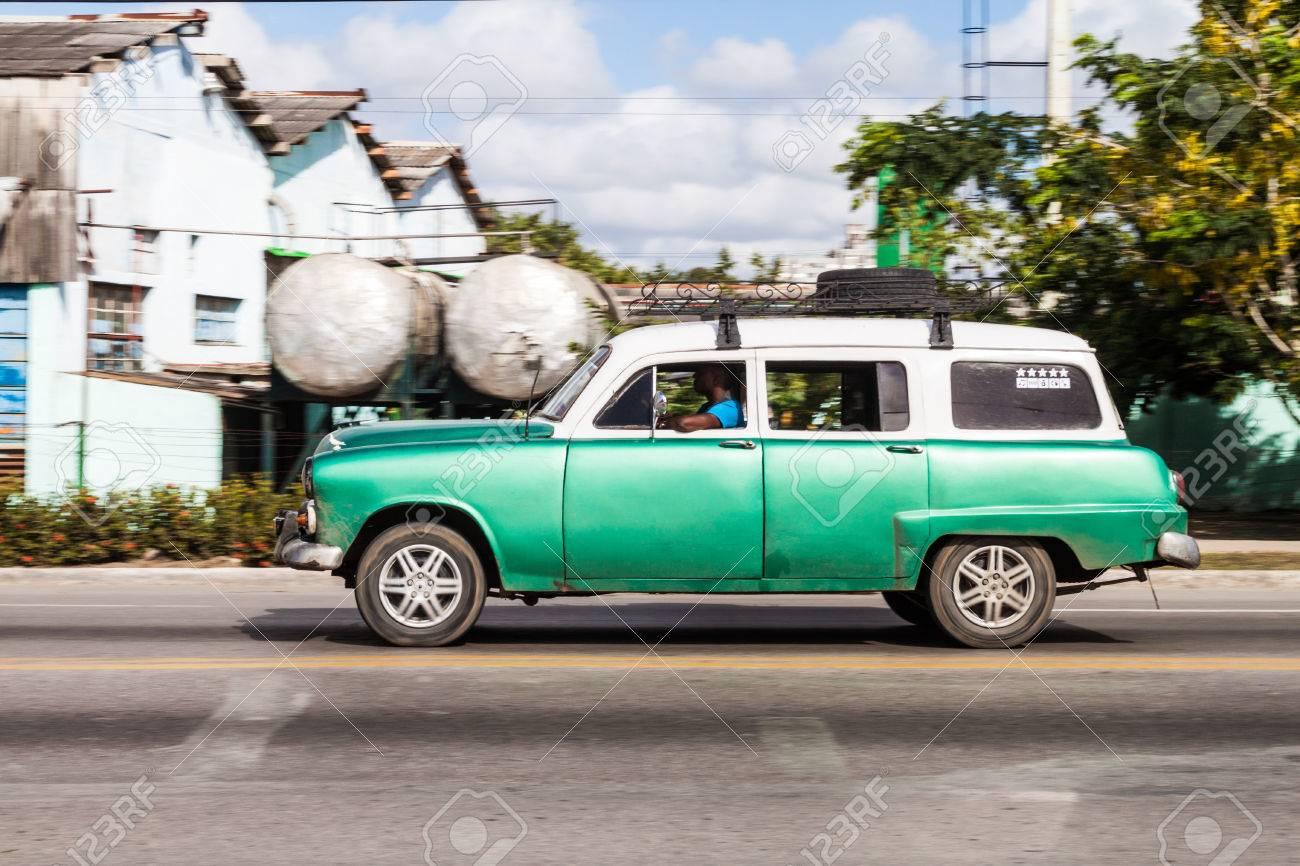 CAMAGUEY, CUBA - JAN 26, 2016: Old Car Rides In Camaguey Stock Photo ...