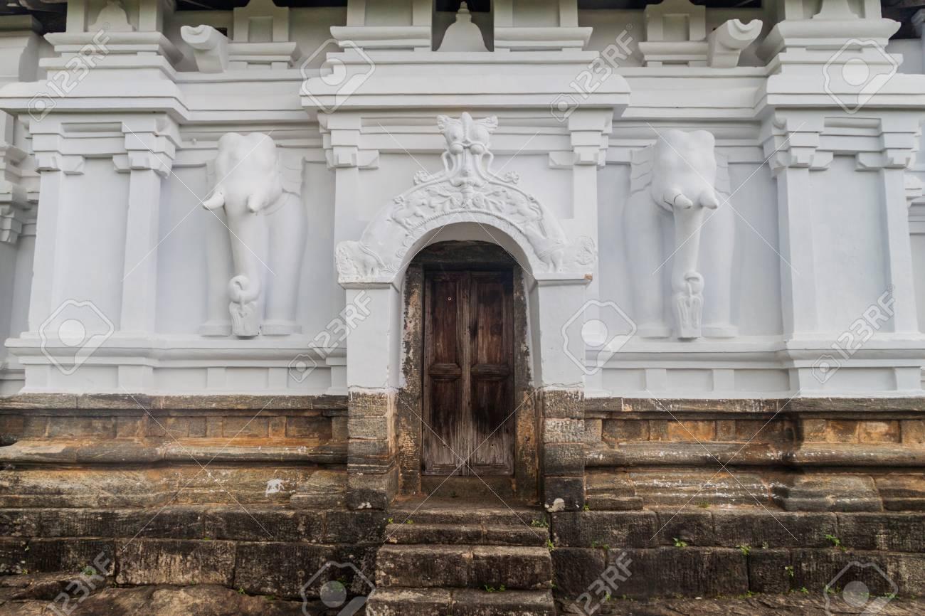 Detail of a gate to Lankatilaka temple near Kandy, Sri Lanka