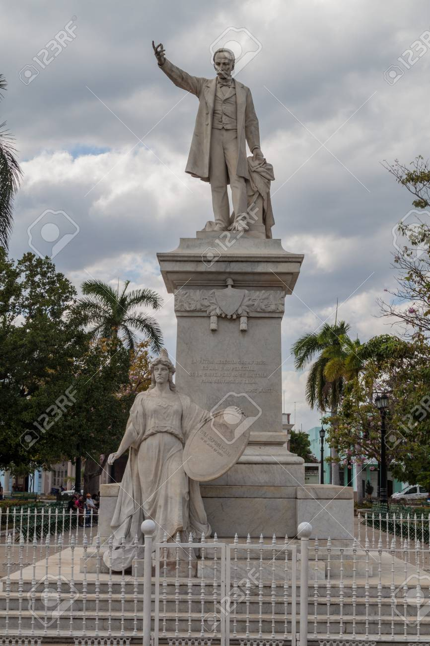 Jose Marti Statue At Parque Jose Marti Square In Cienfuegos Stock Photo Picture And Royalty Free Image Image 92987498
