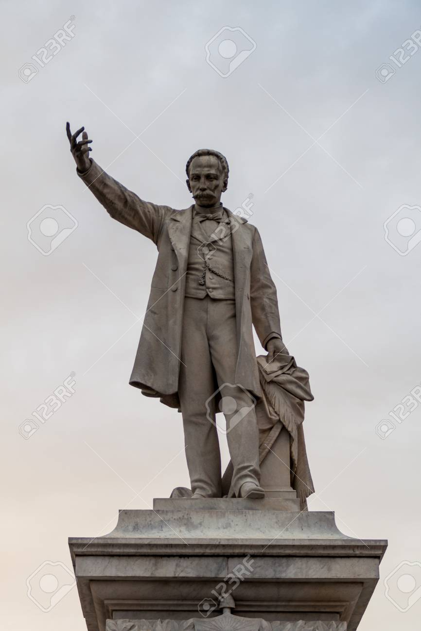 Jose Marti Statue At Parque Jose Marti Square In Cienfuegos Stock Photo Picture And Royalty Free Image Image 92808317