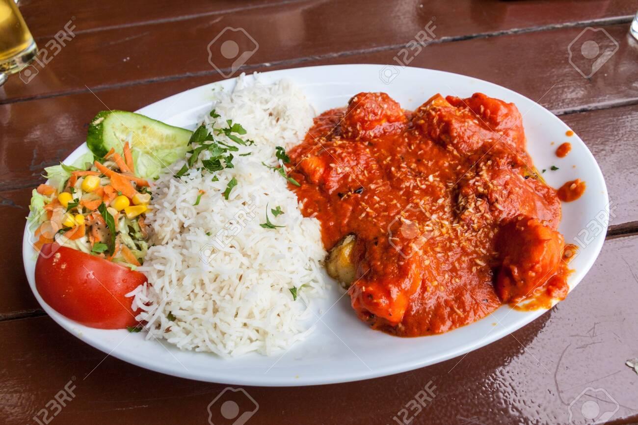 Indian cuisine - dish of Chicken vindaloo - 129086131