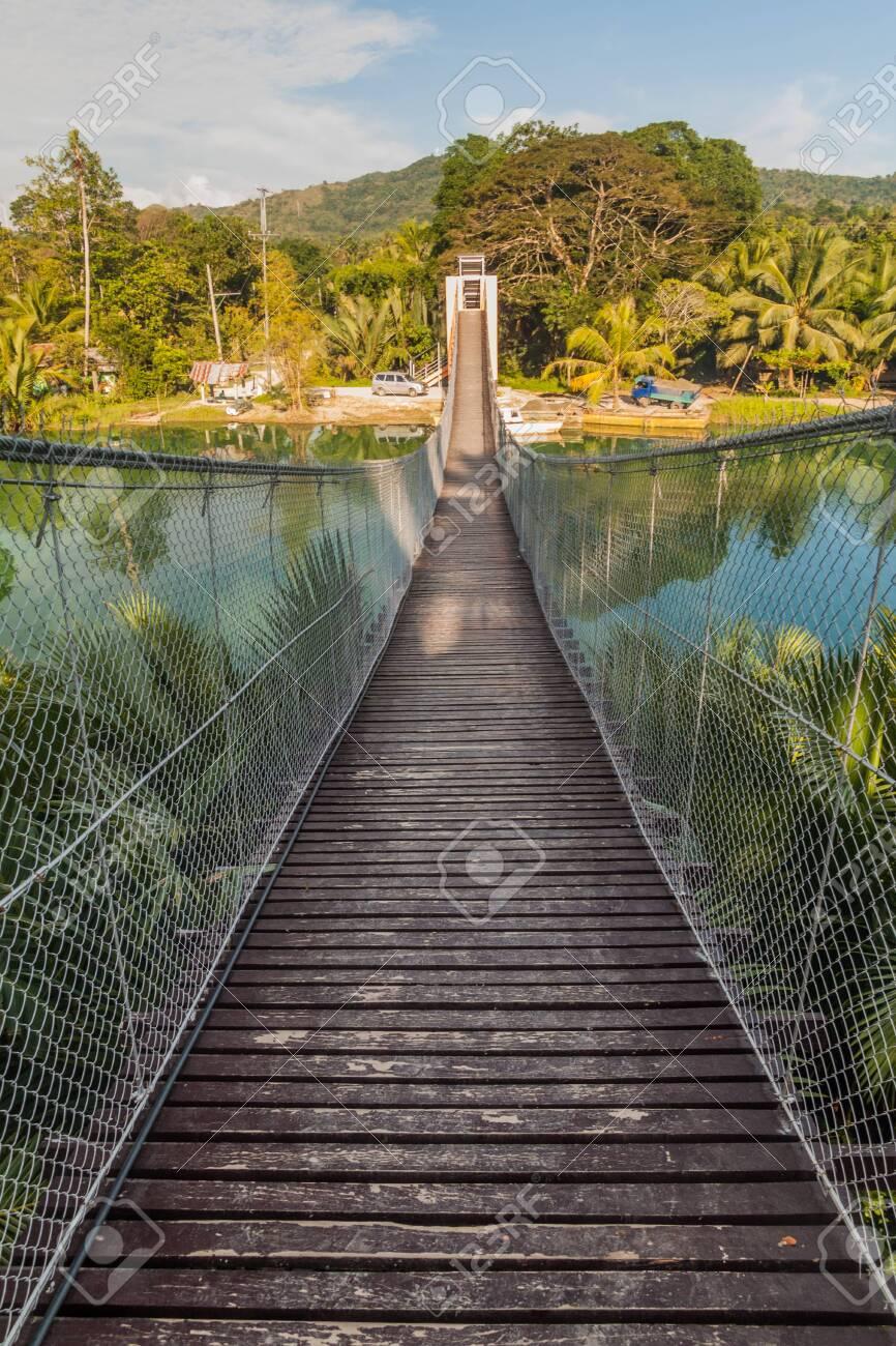 Camaya-an Hanging Bridge over Loboc river on Bohol island, Philippines - 149499939