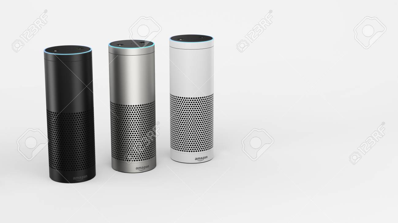 Amazon Echo Plus Stock Photo Picture And Royalty Free Image