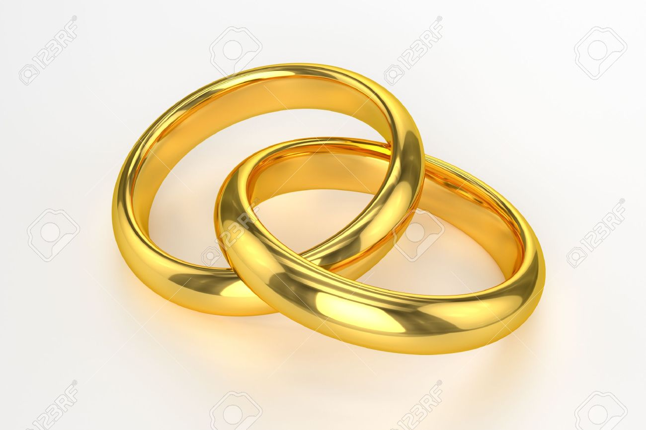 Golden Wedding Rings Stock Photo Picture And Royalty Free Image