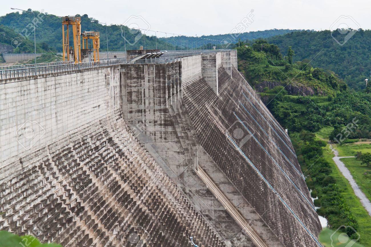 Tadan DAM, the big one to keep water and protect pepple. Stock Photo - 10016894