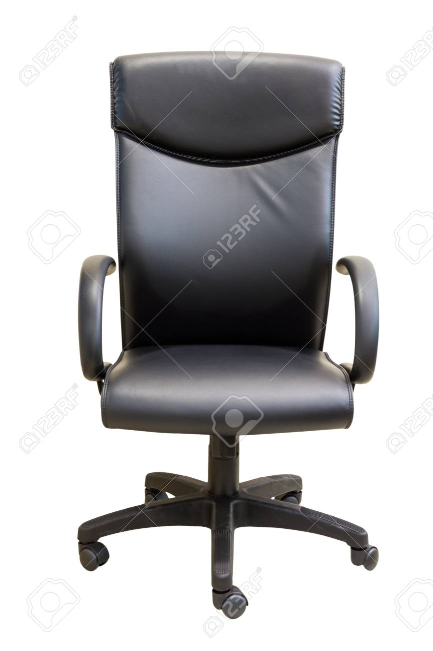 Black executive office chair in white background Stock Photo - 19587977