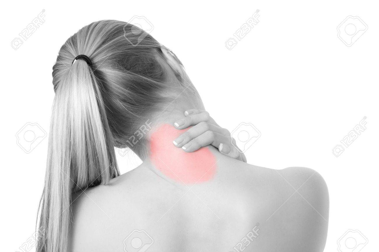 Woman with spine and back pains Stock Photo - 7021120