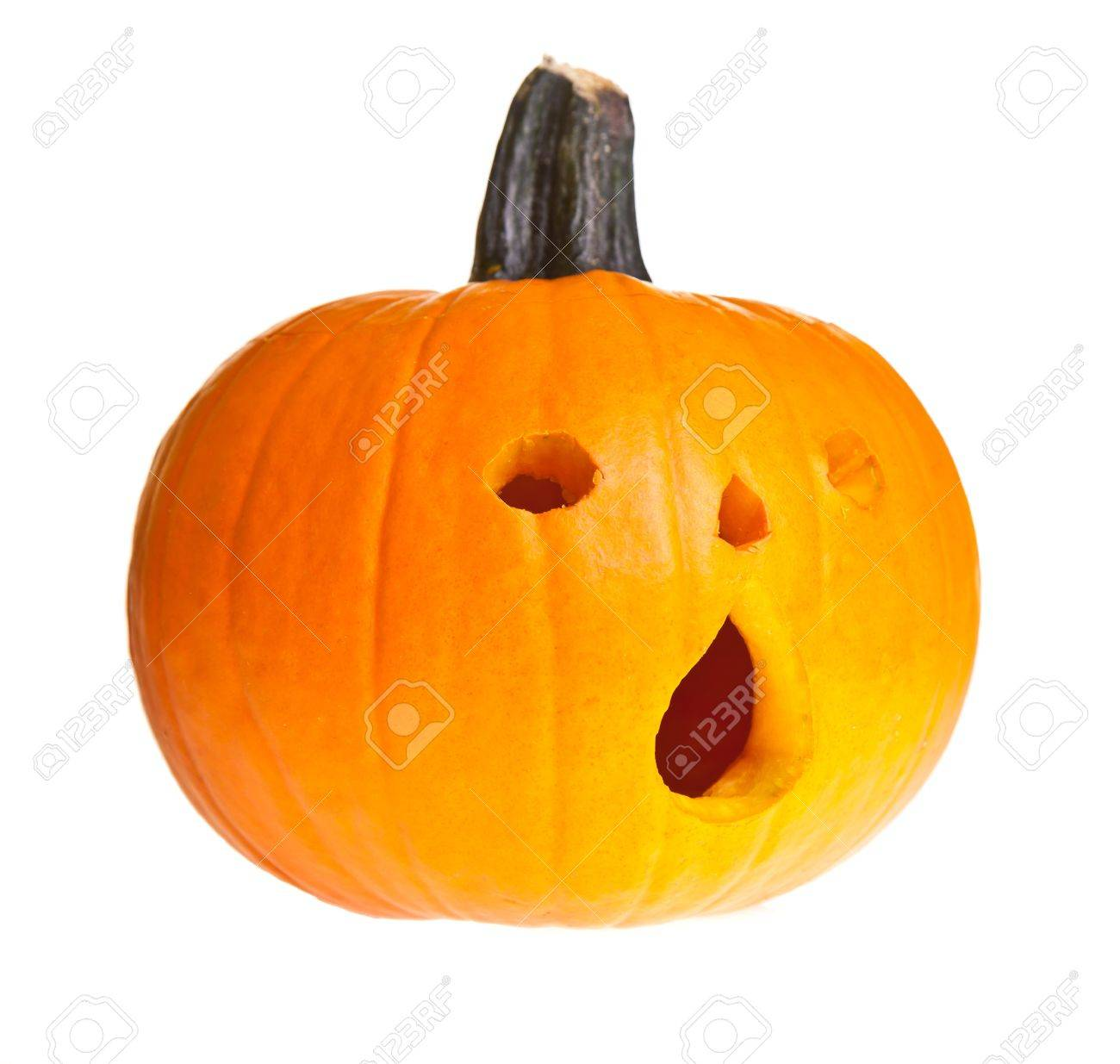 Halloween Scary Jack O Lantern Pumpkin Face Isolated On White Stock Photo Picture And Royalty Free Image Image 10546214
