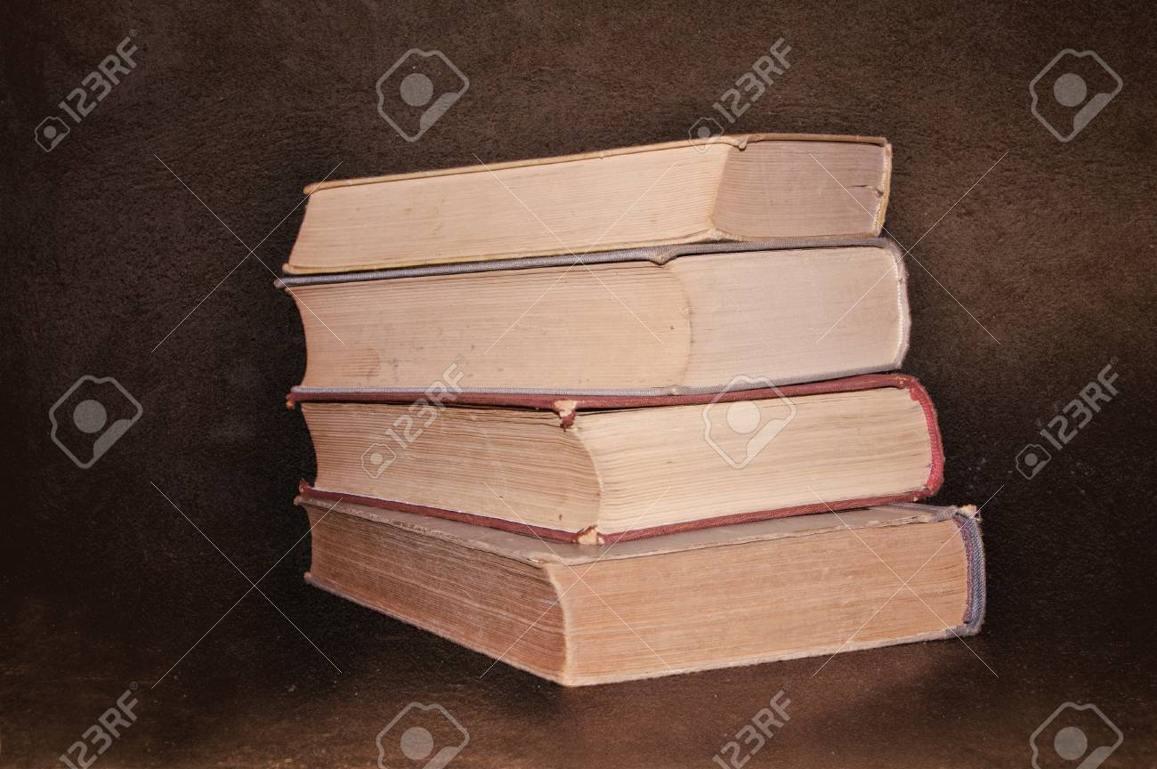 Stack of Old books on grunge background Stock Photo - 17542008