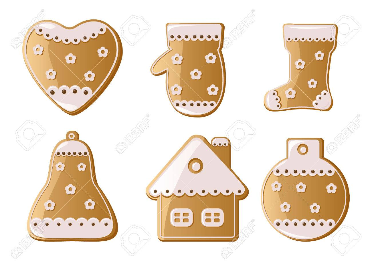 Christmas Gingerbread Cookies Stock Vector - 8257712