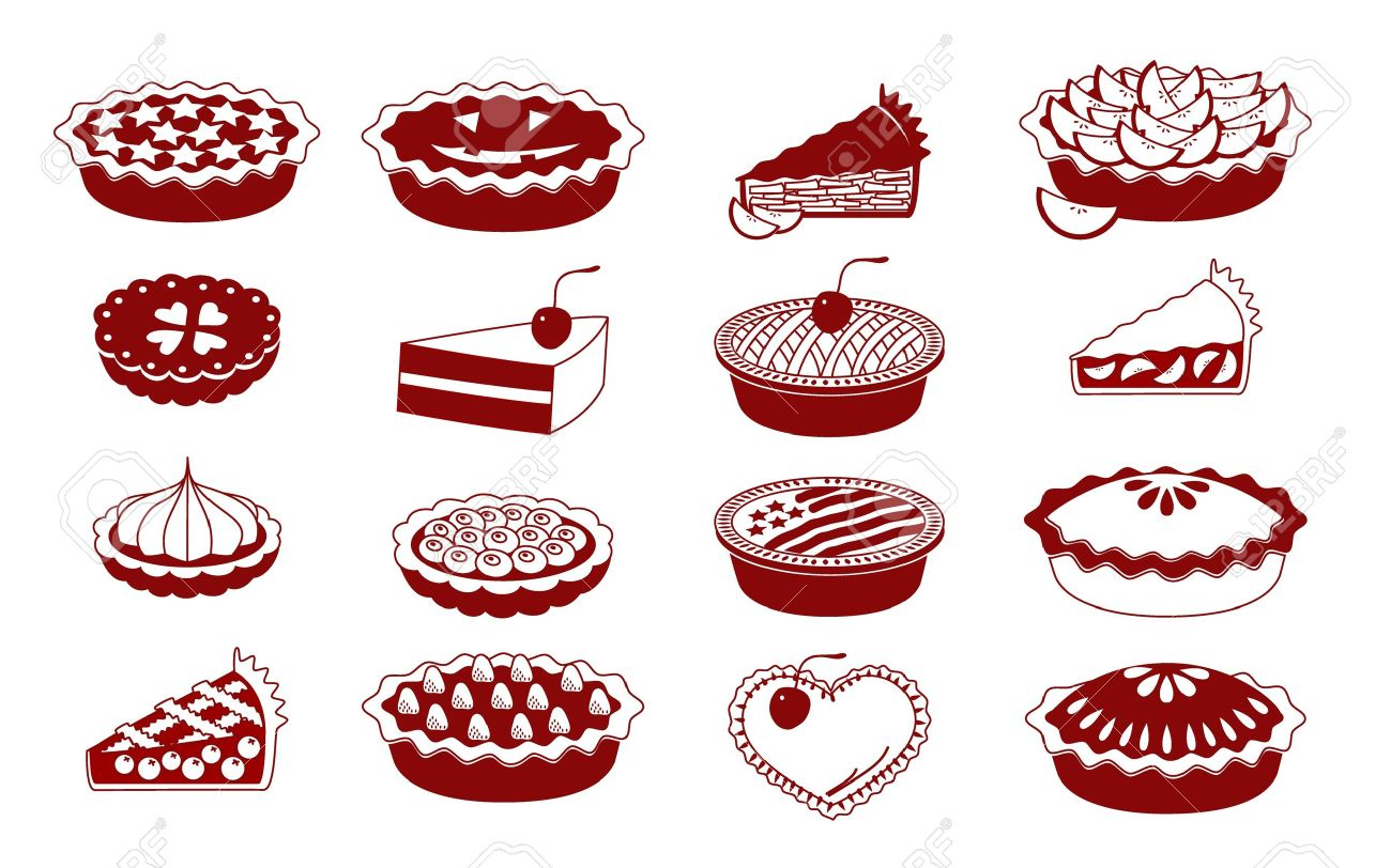 A set of vector icons for baking (pies and tarts) Stock Vector - 17810271