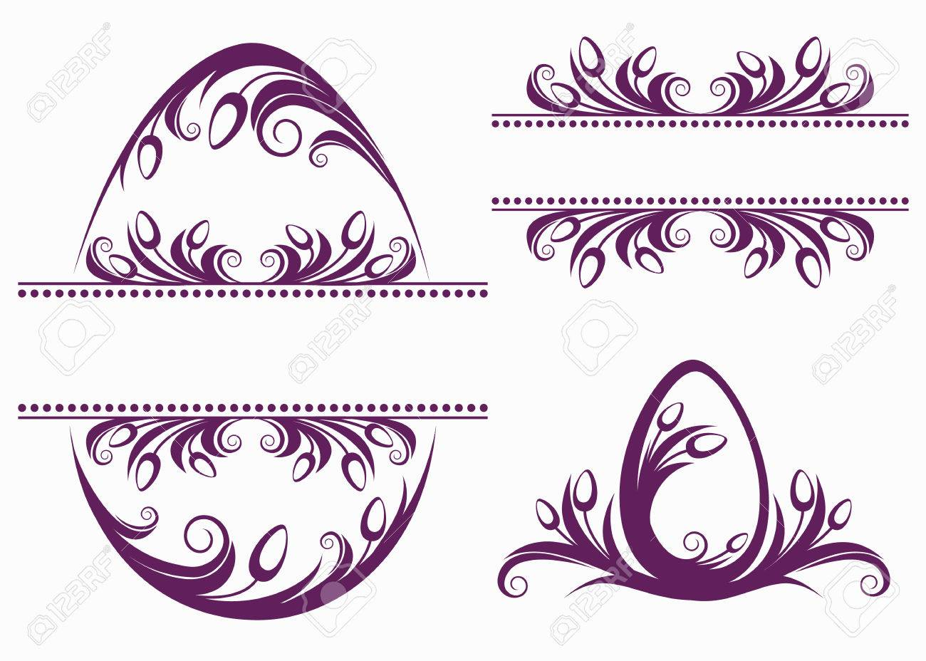 Decorative Easter Frames Royalty Free Cliparts, Vectors, And Stock ...