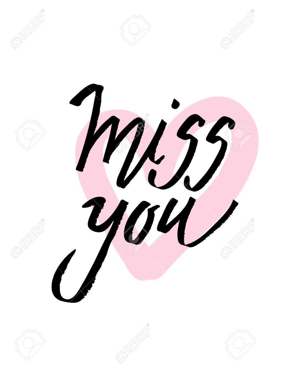 Ich Vermisse Dich Ich Wünsche Dich Valentinstag Kalligraphie