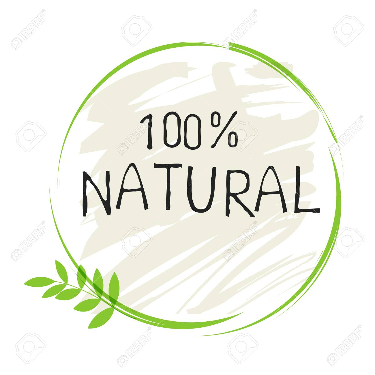 Natural product 100 bio healthy organic label and high quality product badges. - 110523156