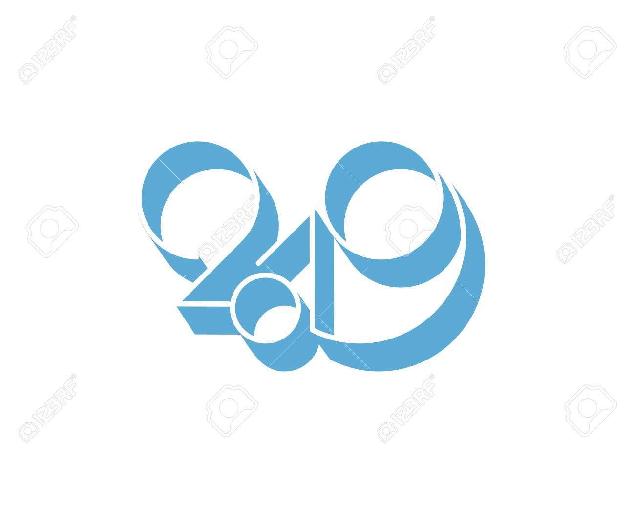 2019 logo new year vector on white background stock vector 110313580