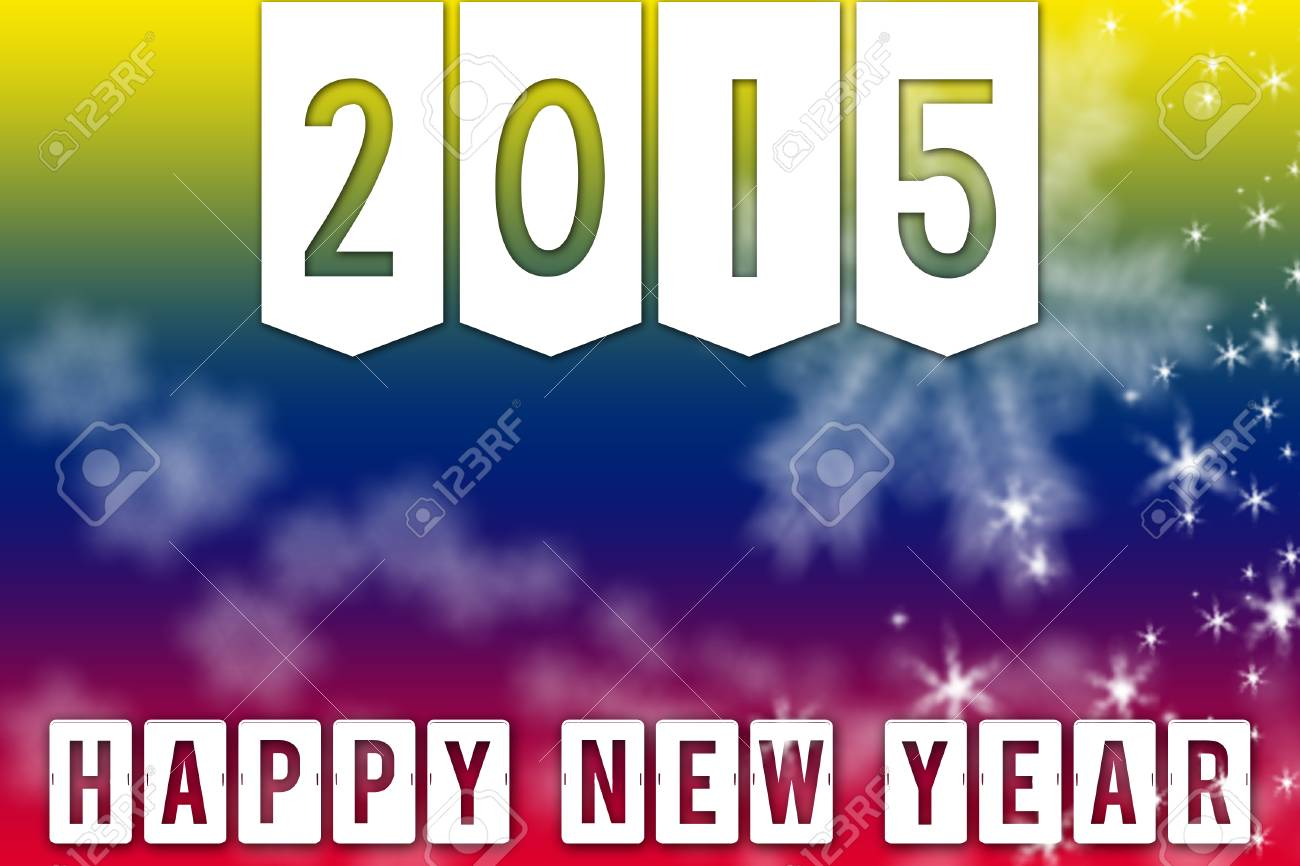 Frohes Neues Jahr 2015 Gruß Hintergrund Banner Mit Weißen ...