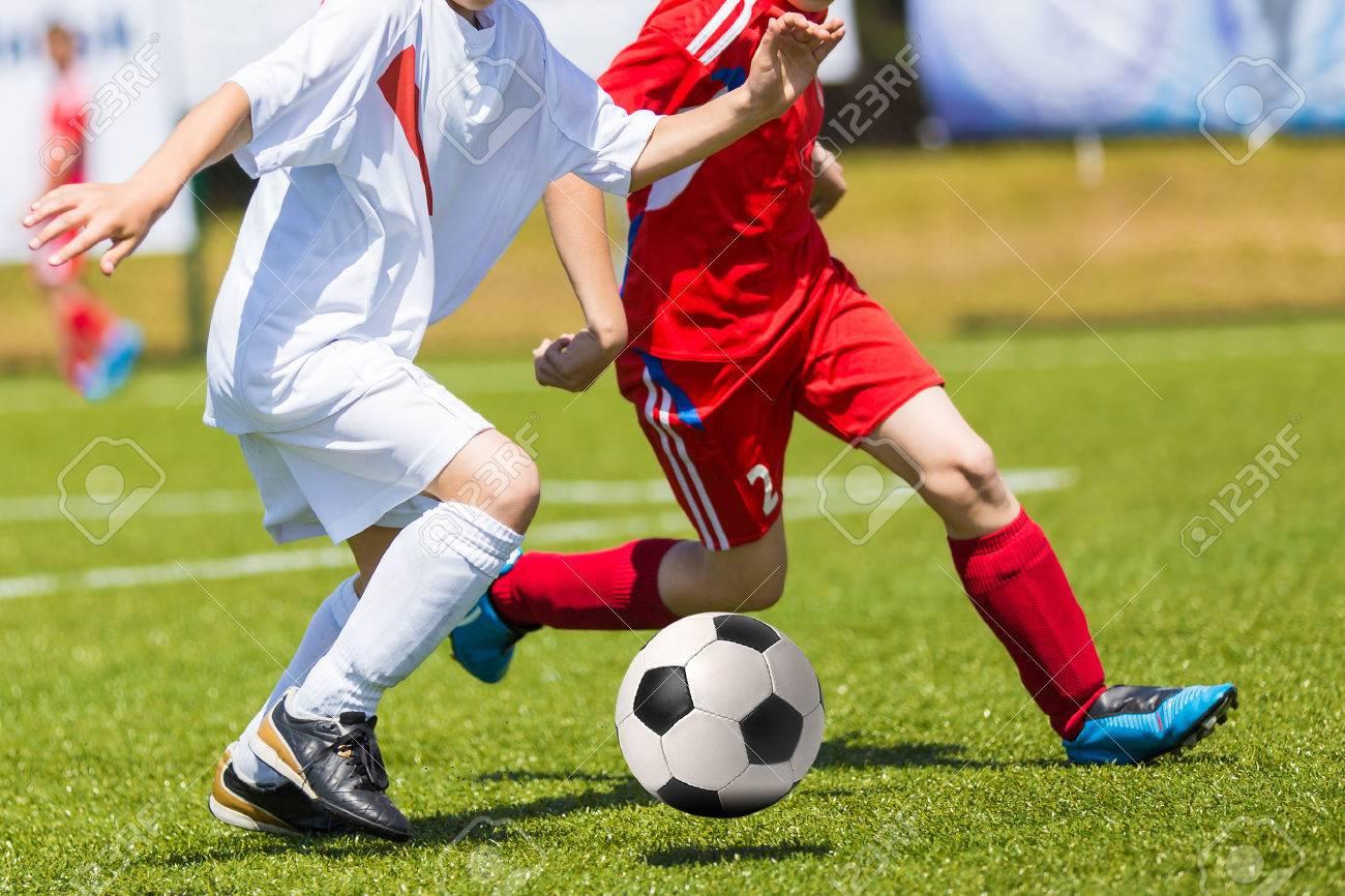 Football match for children. Training and football soccer tournament - 51866235