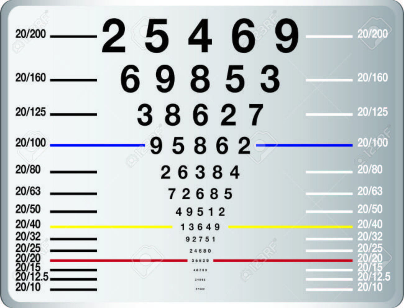 eye sight test chart or snellen chart Stock Photo - 47358430