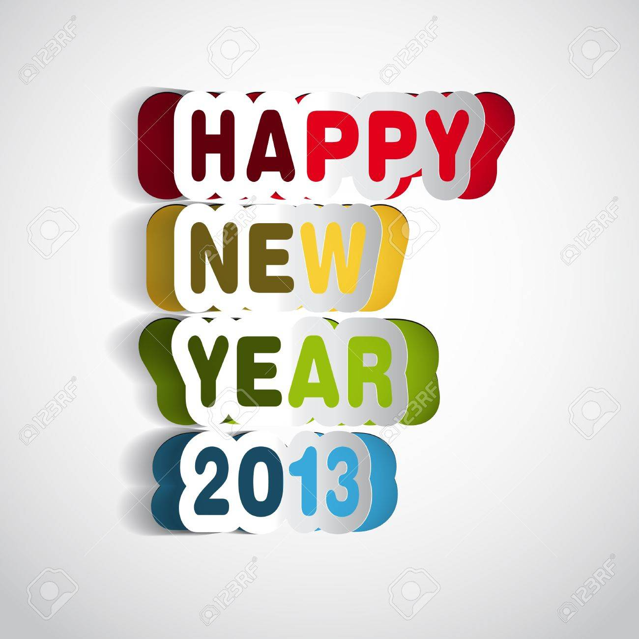 Happy new year 2013 ilustration Stock Vector - 16856029