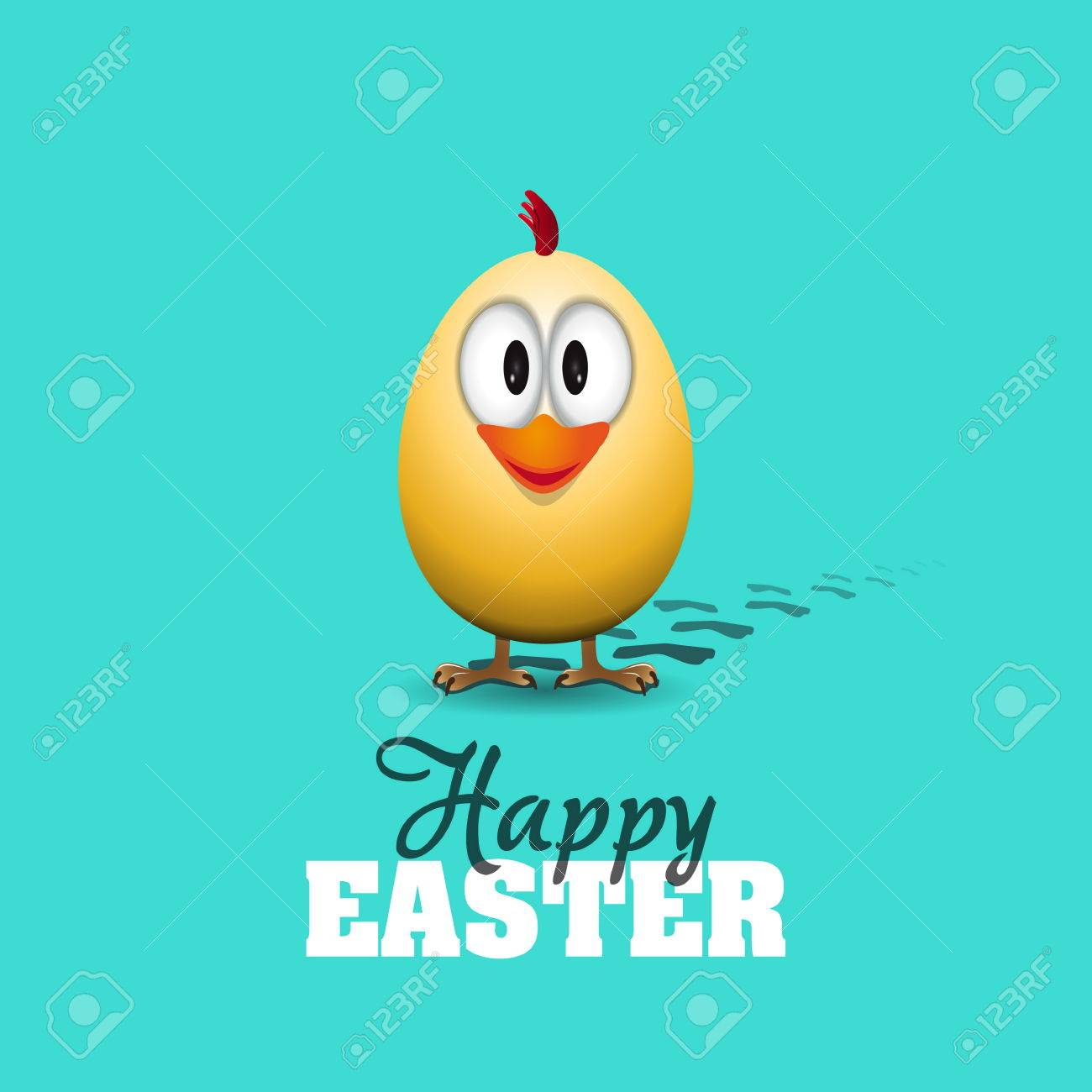Funny easter egg chick background illustration happy easter funny easter egg chick background illustration happy easter card stock vector 25740464 kristyandbryce Choice Image