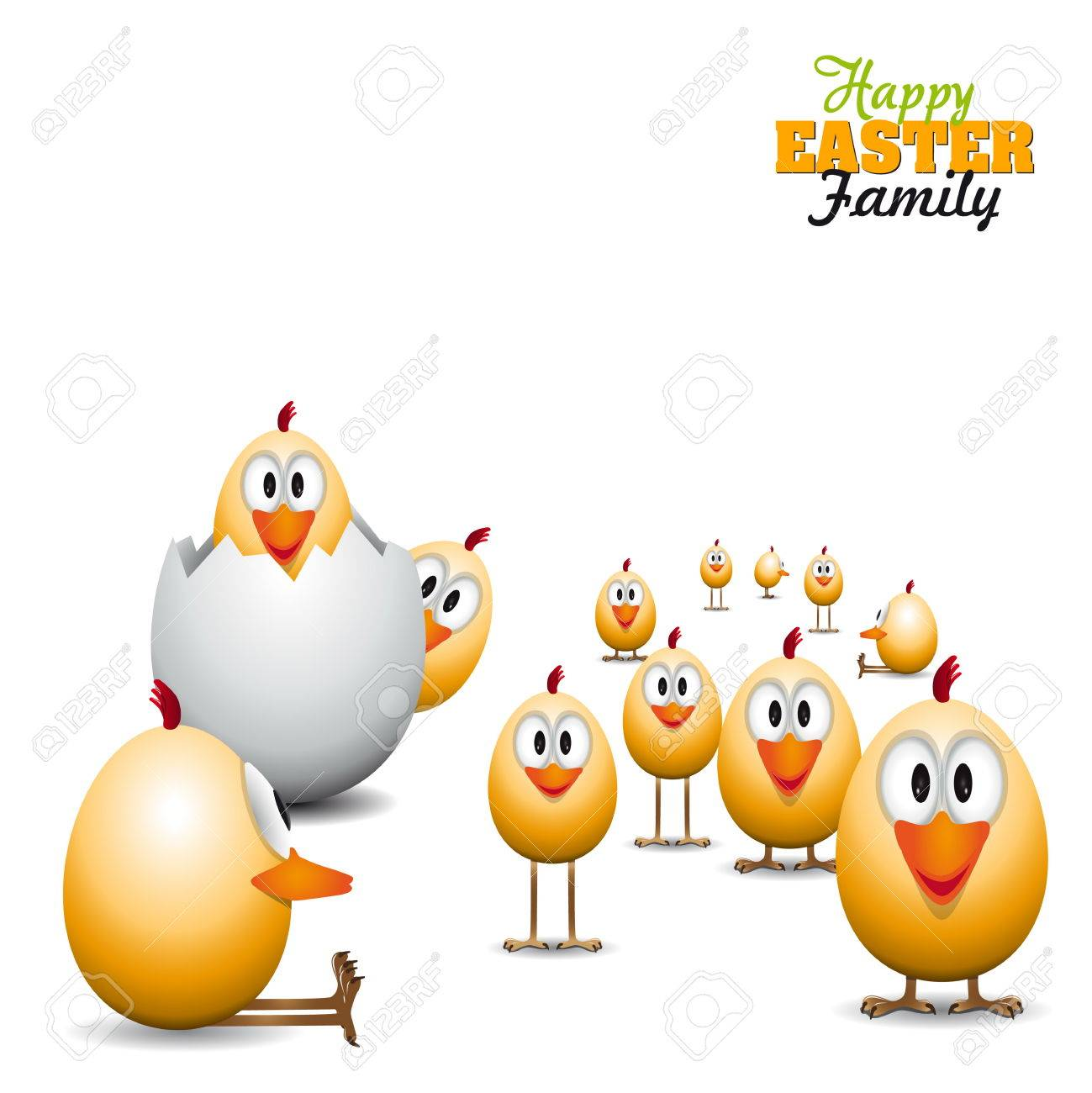Funny easter eggs chicks background illustration happy easter funny easter eggs chicks background illustration happy easter card stock vector 27735630 kristyandbryce Choice Image